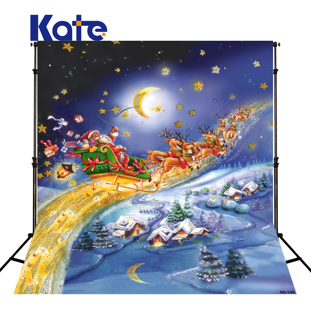 KATE Christmas Village Background Cartoon Photography Backdrop Moon Backgrounds Blue Winter Background For Children Shoot kate christmas village background cartoon photography backdrop moon backgrounds blue winter background for children shoot