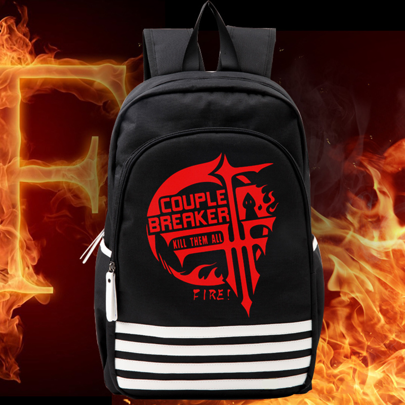 New Arrival Fashion FFF Cosplay Schoolbags Students Backpack Bagpack Oxford Laptop Notebook Mochila for Men Back Pack
