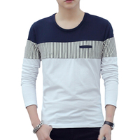 2017 Spring New Men S T Shirt Fashion O Neck Long Sleeve Casual Stripe T Shirts