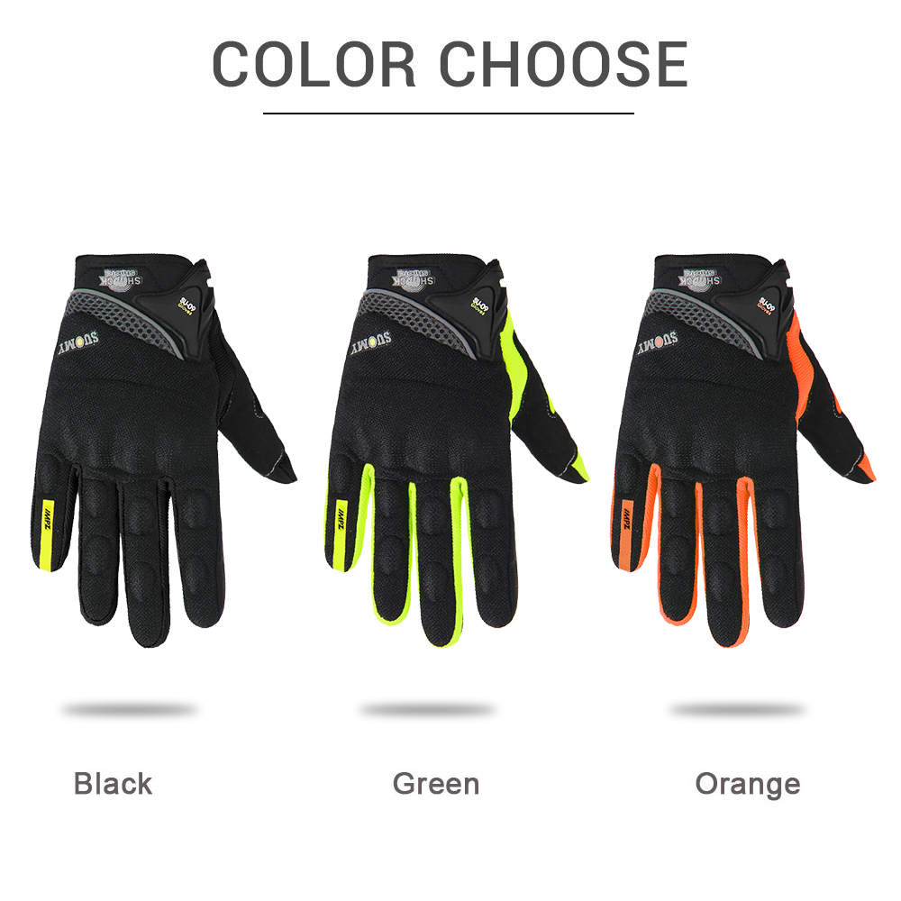 Gel leather carbon fiber cycling motocycle Motocross mx dh bicycle gloves bomber