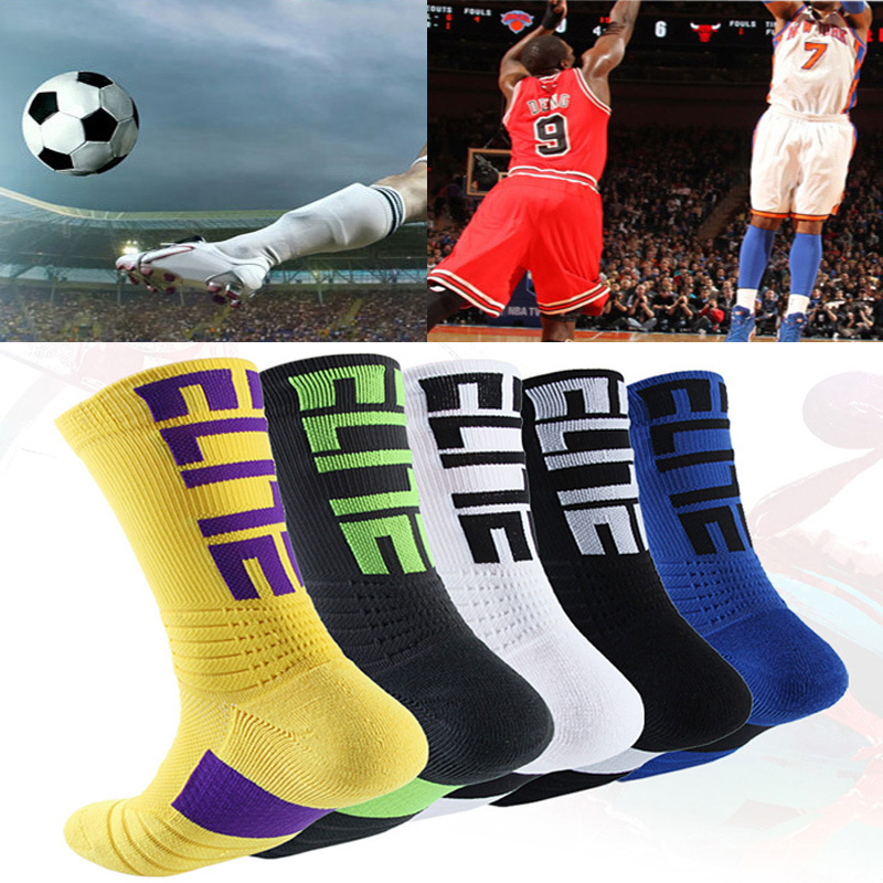 Breathable Sport Sock Cycling Basketball Running 2019 Mtb Pro  Wicking Socks Man Black Trend Long Hiking Damping Men Athletic
