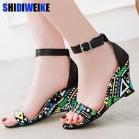 Womens Wedges Shoes For Women Shoes Women's Summer Comfortable Shoe Ladies Sandals Wedge Sandals Heels 2019 g093