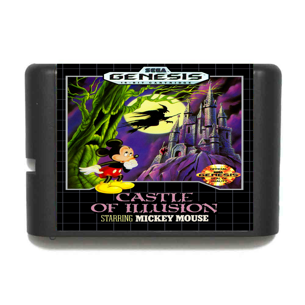 Castle of illusion Starring Mickey Mouse 16 bit MD Game Card For Sega Mega Drive For Genesis mickey mouse castle of illusion
