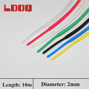 LDDQ Heat Shrink 2mm Cable Sleeve 10m Tubing Heat Cable Shrink Wire Tube Wrap Shrinkable Tubing Cable Wire Wrap PE Material
