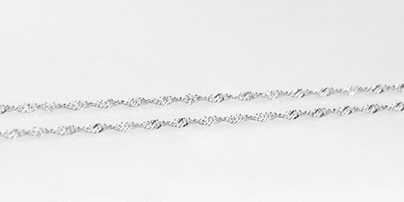 925 sterling silver water wave chain necklace (2)