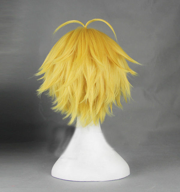 Meliodas Dragon's Sin of Wrath Wigs Heat Resistant Golden Synthetic Hair Cosplay Wig