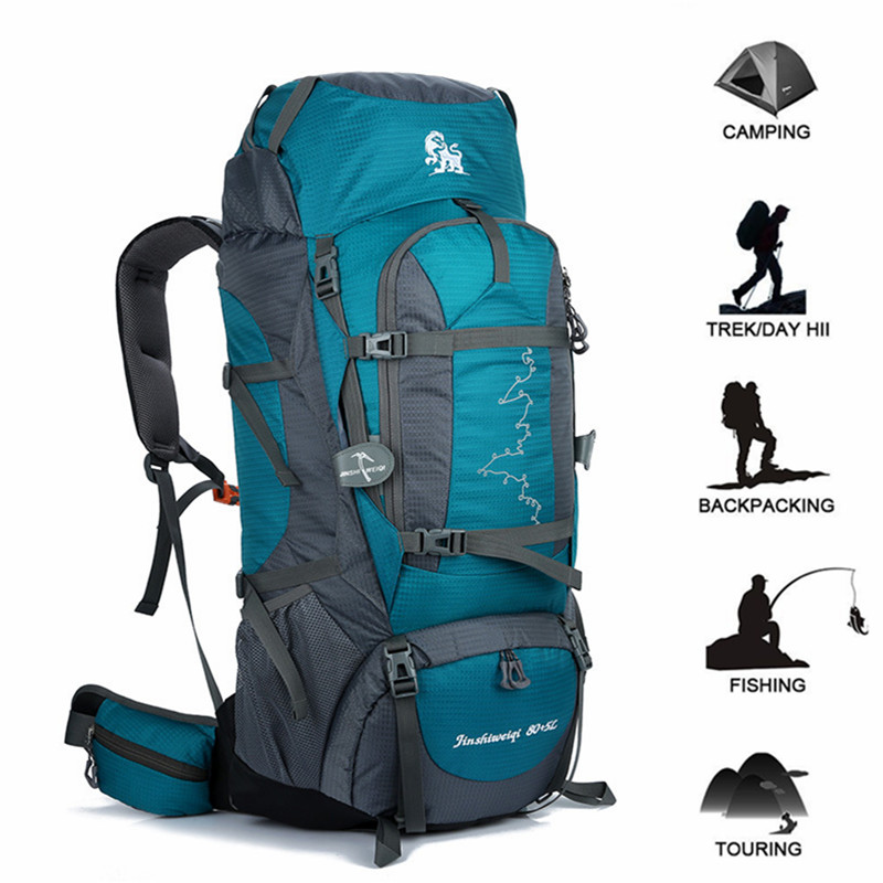 85L Waterproof Travel Hiking Backpack Sports Bag Men Women Outdoor Gear Camping Climbing Bag Mountaineering Trekking Rucksback bswolf 85l professional climbing hiking backpack waterproof mountaineering bag outdoor travel backpack camping equipment