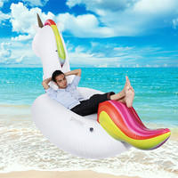 Outlife Adult Kid Pool Float Inflatable Boat Unicorn Swimming Float Swan Swimming Air Mattresses Tube Raft Ring Summer Water Toy