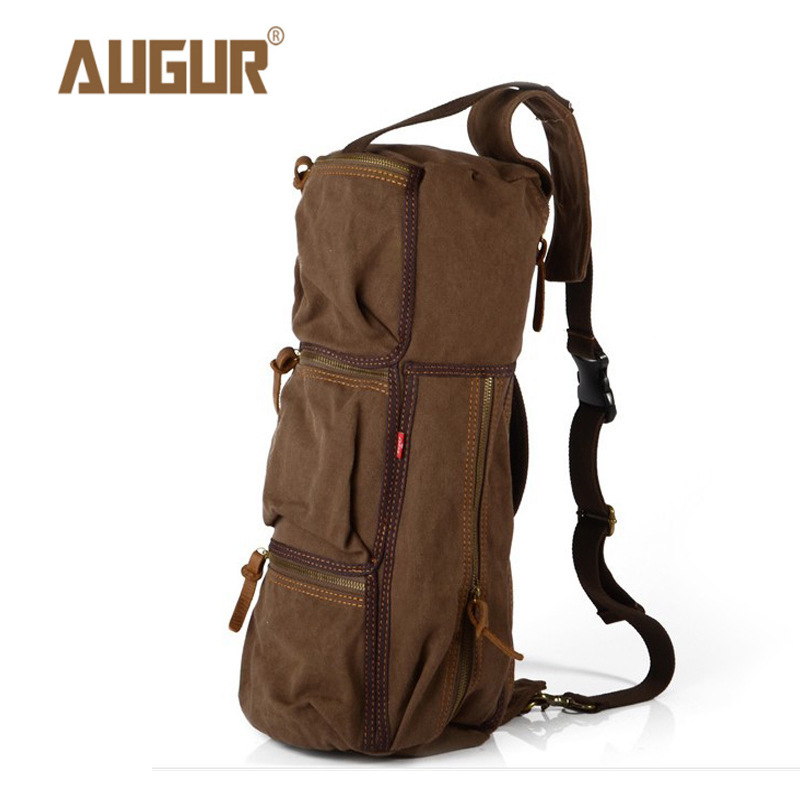 AUGUR Vintage Men Shoulder Bag Canvas Crossbody Bag Barrel-shaped Luxury Brand Men Messenger Bag Designer Handbags High Quality augur casual men messenger bags high quality oxford waterproof man shoulder bag luxury brand crossbody bags designer handbags