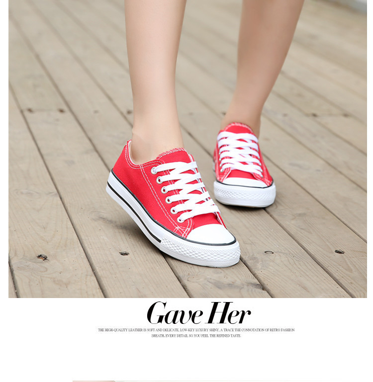 3c982833a5 Women Canvas Shoes Solid Color Casual Lacing Sneakers red pink blue  purple white yellow green-in Women s Vulcanize Shoes from Shoes on  Aliexpress.com ...
