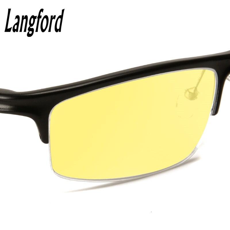 Лэнгфорд анти-голубой лучи компьютерные очки Очки для чтения для женщин Весна ноги мужские глаз Очки Прохладный игровой Очки защиты