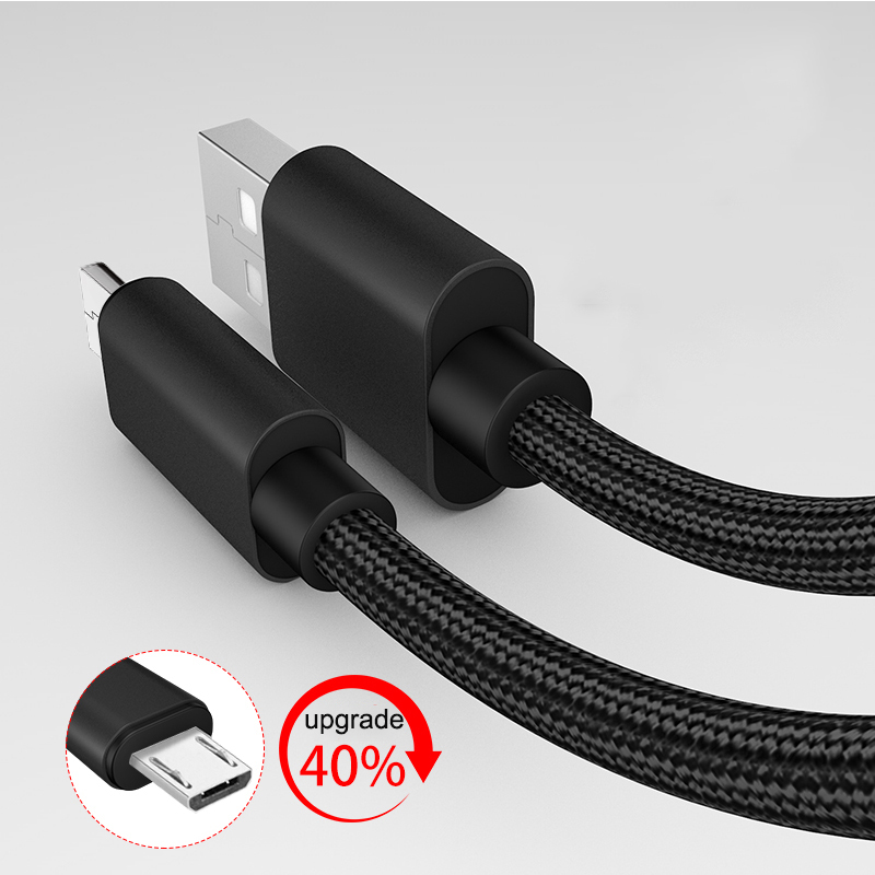 2 Pack Suntaiho Fast Charge Micro USB Cable for Samsung s7 Nylon Micro USB Data Cable for Mobile Phone Android for Xiaomi HTC LG