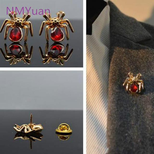 2017 Fangzuan Multicolor Fashion Simple Small Insects Spider Brooch Jewelry / Pe