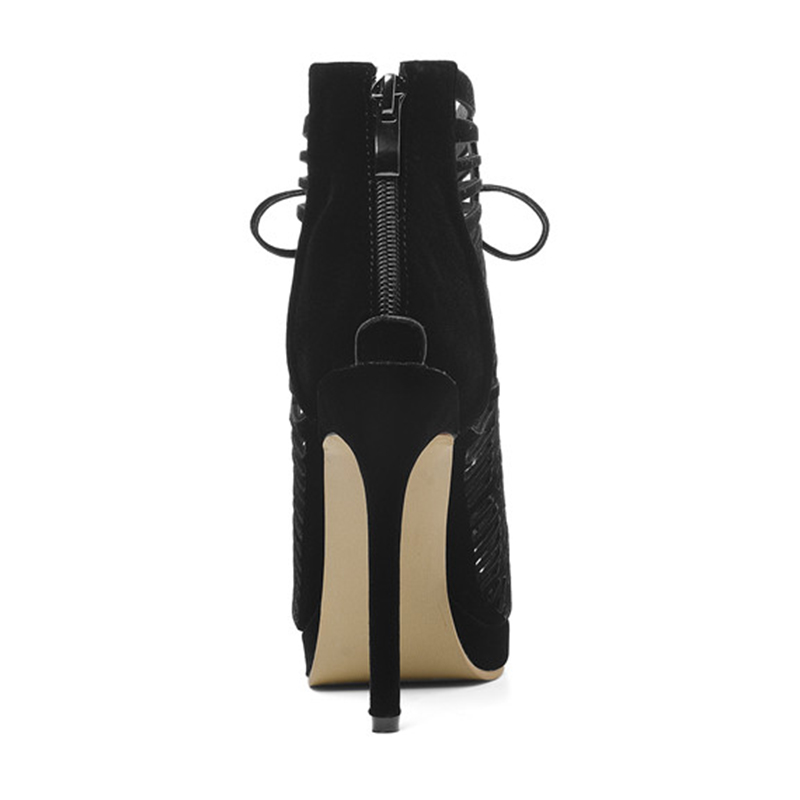 SARAIRIS Brand New Plus Size 28-54 Zip Hollow Bowtie High Heels Rome Shoes Woman Casual Party Ol Sexy Summer Evening Sandals 35