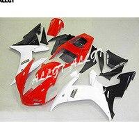 ABS Plastic Bodywork Frame Fairing Kits For Yamaha YZF 1000 R1 2002 2003 YZF 1000 R1 02 03 White Black