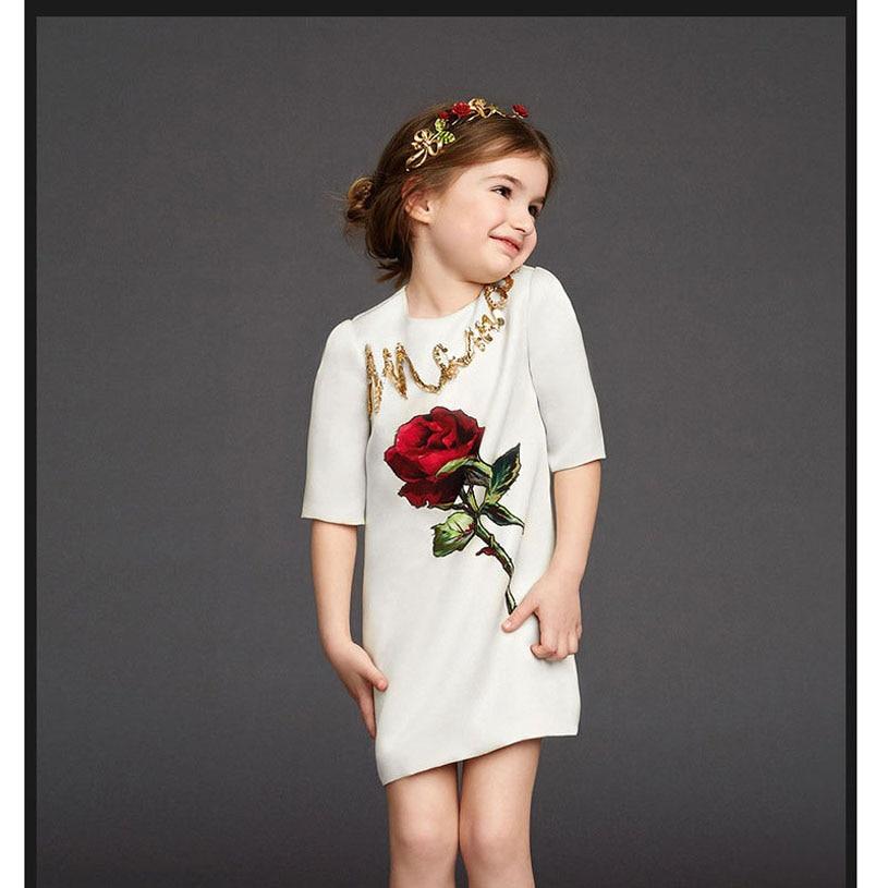 Φορέματα κοριτσιών λουλουδιών για κορίτσια και γαμήλια γαμήλια κορίτσια Ένδυση Nova Kids κορίτσι εκτύπωσης Παιδικά φορέματα για κορίτσια