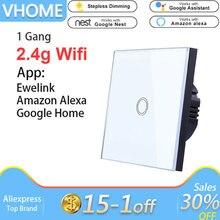 Vhome Ewelink сенсорный переключатель, 2,4 г Wifi Умный домашний сенсорный переключатель панели, стандарт ЕС/Великобритания Wifi управление Alexa приложение, умная настенная панель