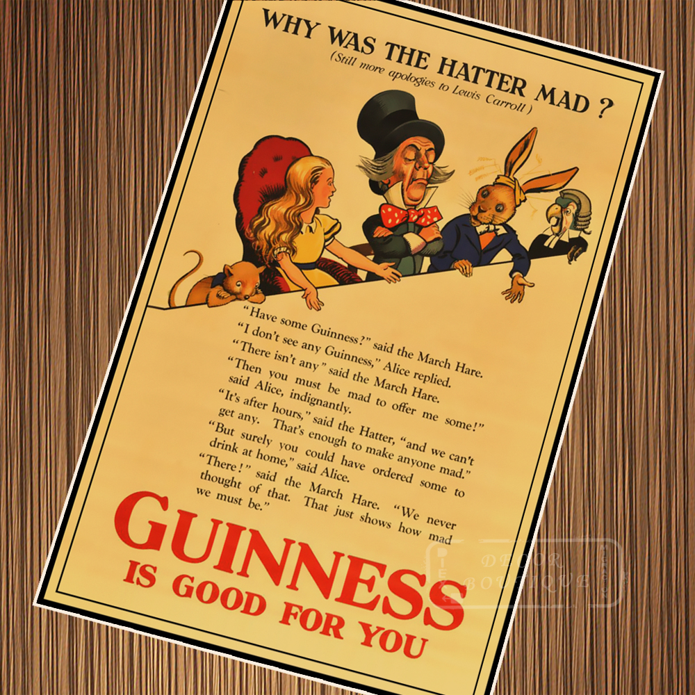 Guinness is Good for You Beer Propaganda Posters Retro Vintage Kraft ...