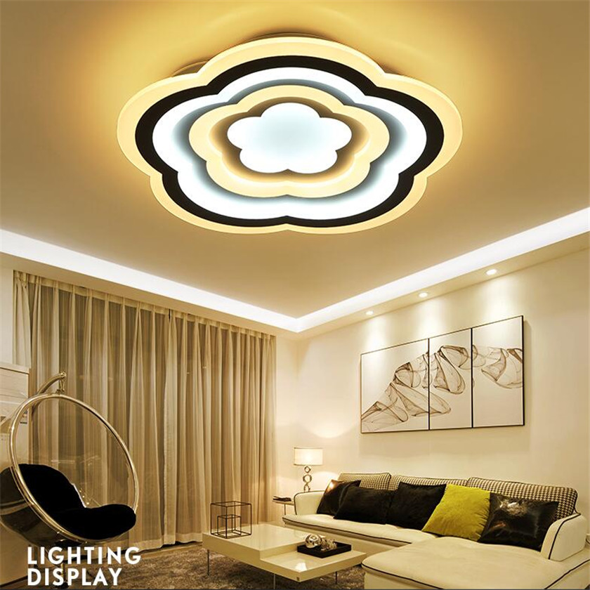 Nouveauté fleur moderne Led acrylique plafonniers pour salon romantique décoration Led gradation plafonnier luminaire