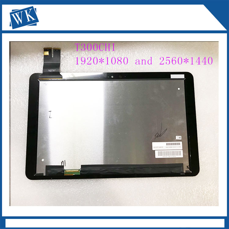 цена на new 12.5 Inch lcd B125HAN01.0 LQ125T1JX03 LCD Display + Touch Screen Assembly 1920*1080 and 2560*1440For Asus T300chi T300 CHi