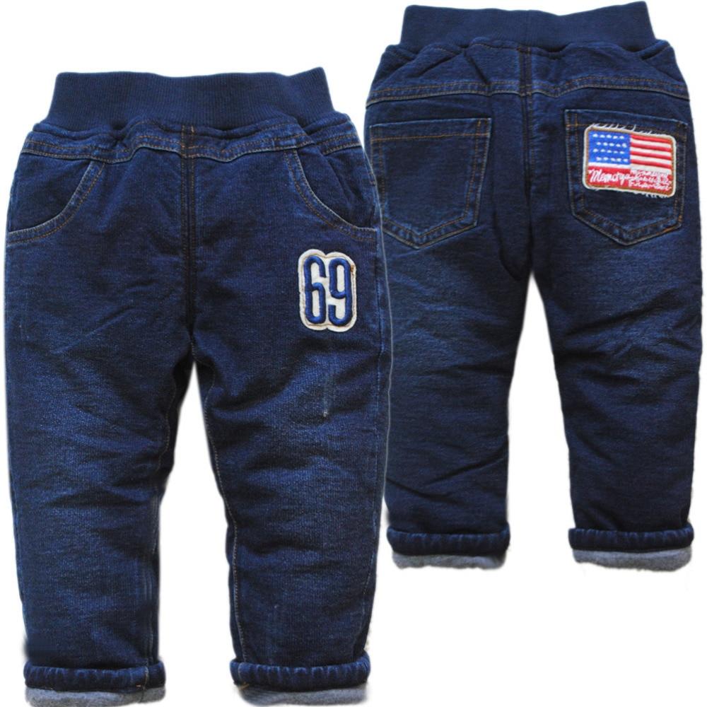 4074 velmi teplé dětské zimní kalhoty chlapci dětské džíny - Oblečení pro miminka