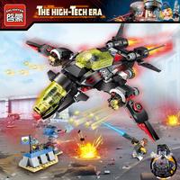Enlighten High Tech Educational Building Blocks Toys For Children Gifts Military Aircraft Super Hero Gun Tower Weapon Stickers