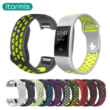 Silicone Watchbands for fitbit charge 2 Replacement Band Strap For Fitbit charge 2 Bracelet Smart Wristbands Double color