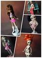Новый 10 шт./лот одежда для Monster High куклы мода casual спортивный костюм Оригинальные одежды куклы платье для Монстр Высота куклы