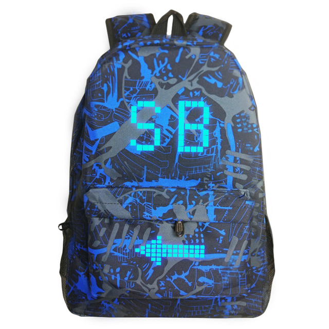 Sac Lumineux Cool Hommes Toile Homme Dos Impression Sb Femme À H9WIbeE2YD