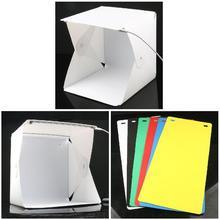Mini Folding Studio Diffuse Soft Box Lightbox with LED Light