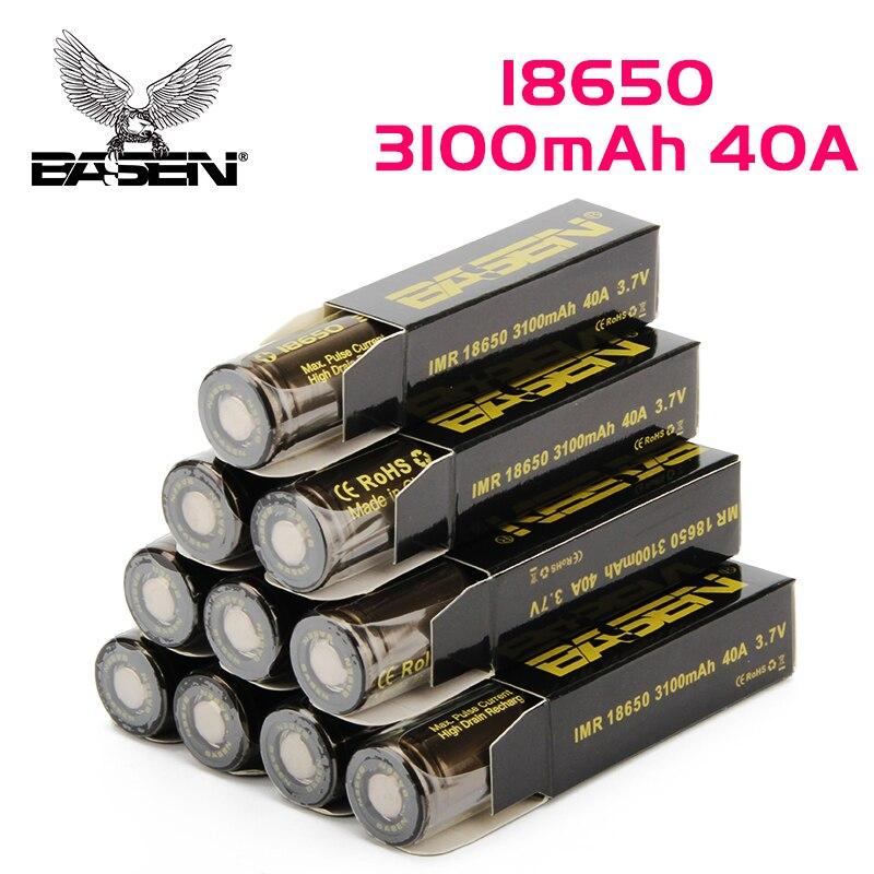 Basen BS186Q baterías recargables 18650 30Q 18650 batería recargable 40A 3,7 V Li Ion 10 piezas