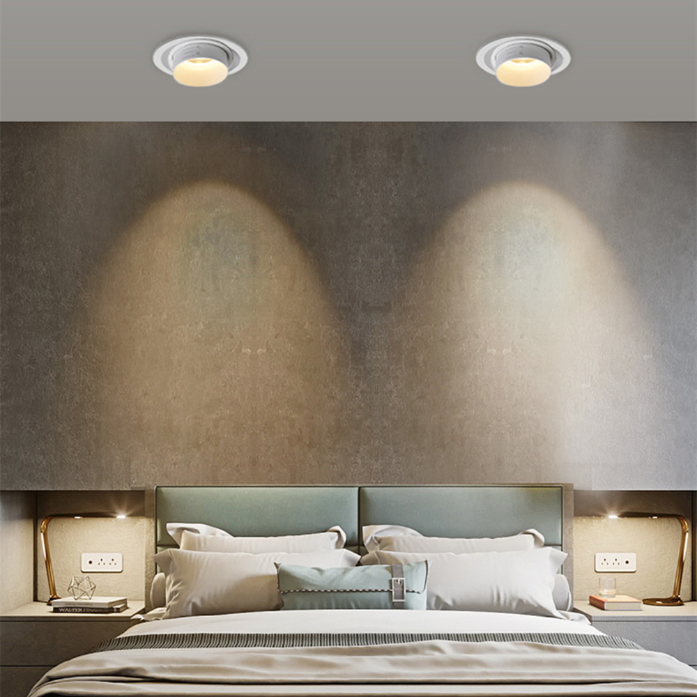 Stretchable recessed ceiling downlight Dimmable LED spot Lightings 15W 10W 5W recessed led light Bedroom Kitchen Indoor led lamp in Downlights from Lights Lighting