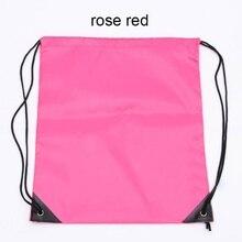 School Sport Bag Gym Swim Dance Shoes Backpack Bundle Custom Nylon Drawstring Rope Bags Shoulder