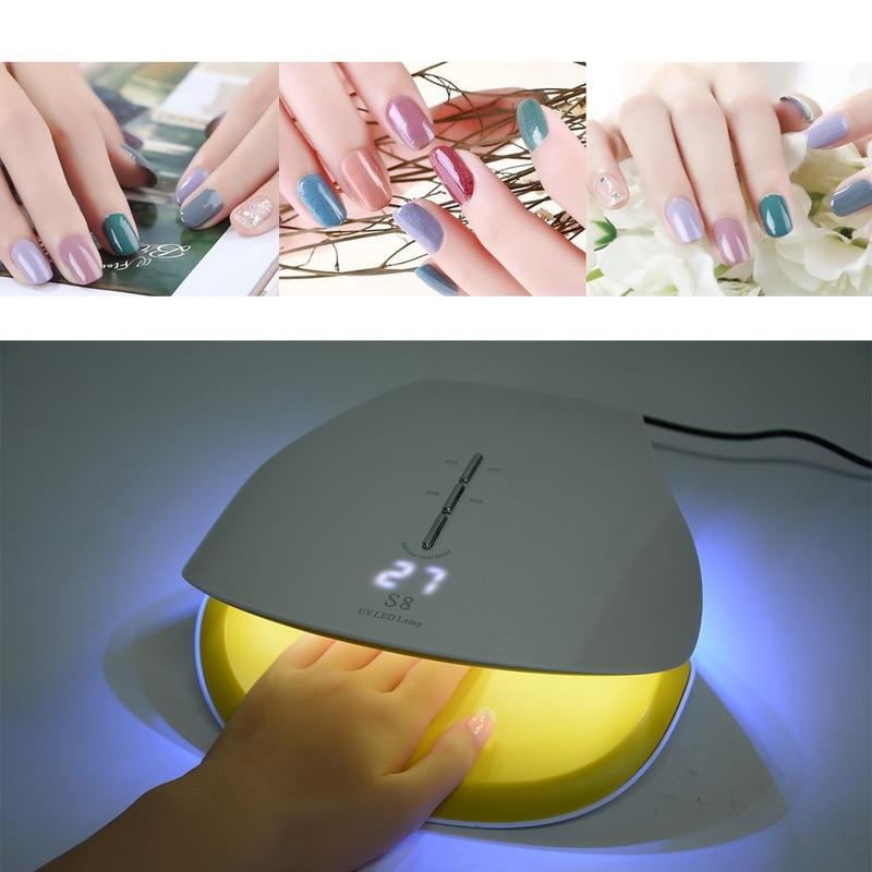 Eu/us-stecker 48 Watt Intelligente Induktion Nagel Lampe Led Phototherapie Maschine Nägel Trockner Werkzeuge Nette Led Lampen Neue Mode Nagel Kunst Schönheit & Gesundheit