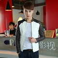 Free shipping ! 2014 new arrival! Men's PU Leather Jacket Slim Leather Coat