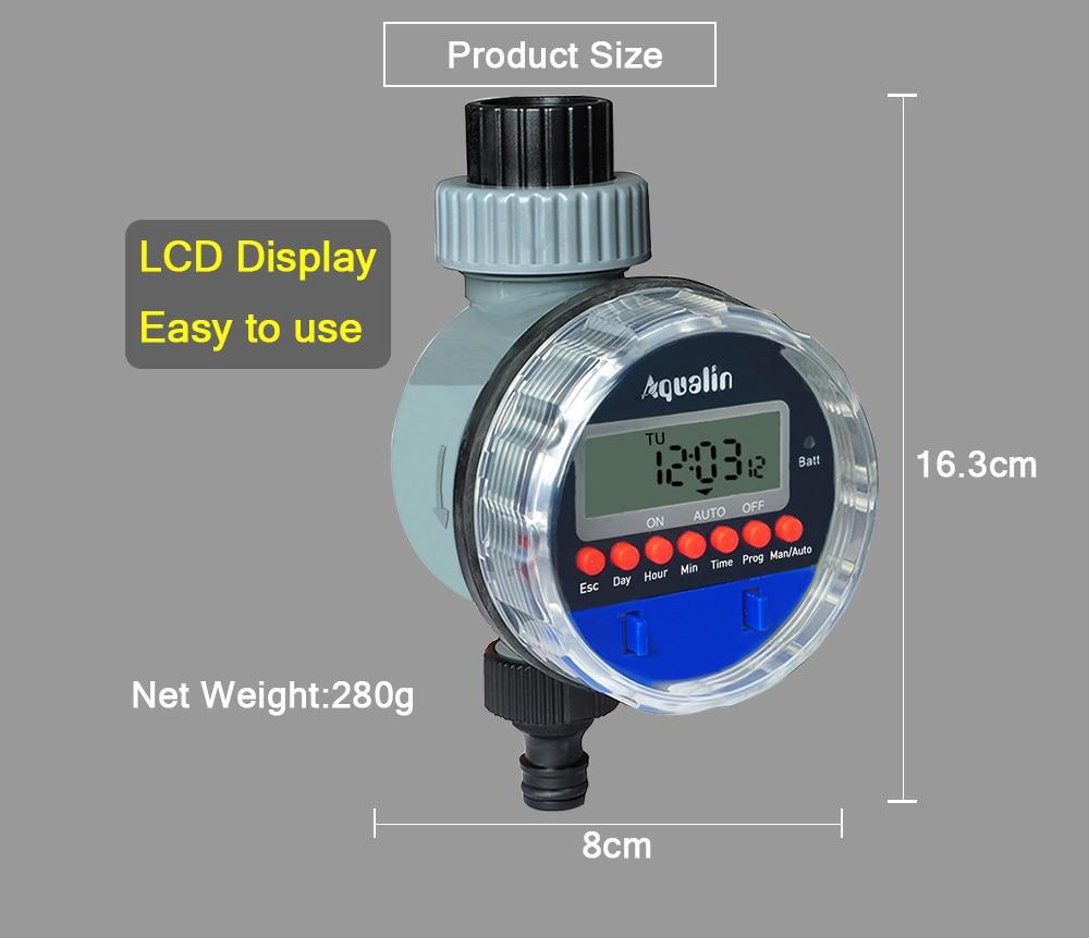 HTB1APOPXLvsK1RjSspdq6AZepXa6 Automatic LCD Display Watering Timer Electronic Home Garden Ball Valve Water Timer For Garden Irrigation Controller#21026