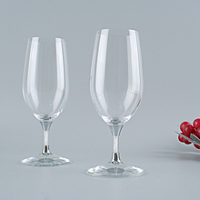 Необычные кристалльный стенд пива Стекло набор, элегантный Бордо Форма вина Стекло, Свадебная вечеринка/Коктейльные Вечерние Стекло es, 390 мл 2 шт./компл