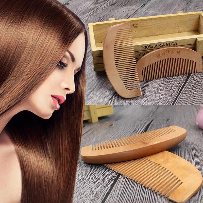 ファッション天然桃木製の櫛クローズ歯帯電防止ヘッドマッサージヘアケア木製ツール美容アクセサリーミニ櫛 mushu