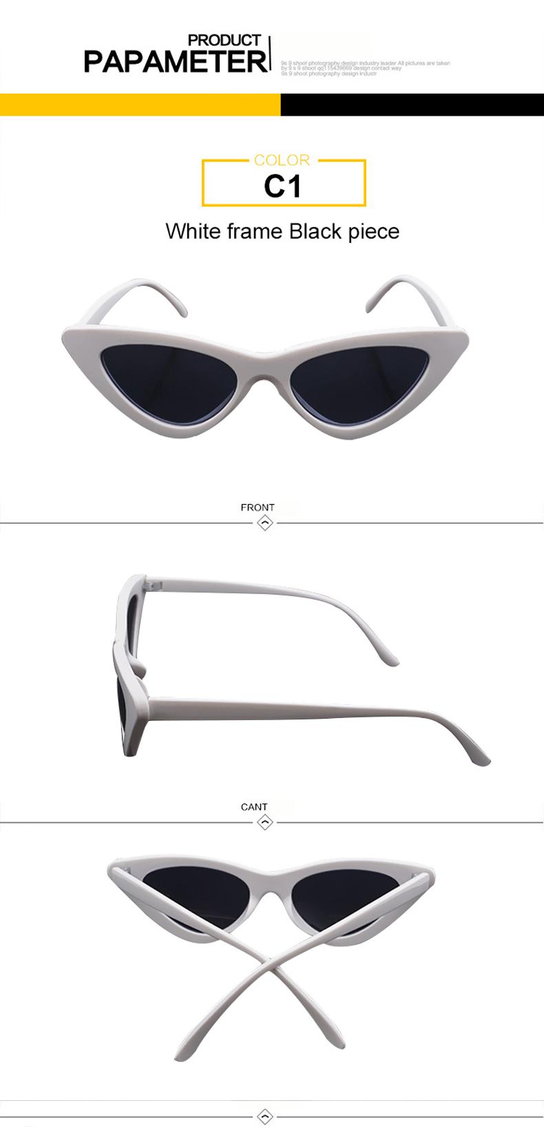 HTB1APP3iLBNTKJjSszeq6Au2VXaT - WHO CUTIE 2018 Brand Designer Black Cat Eye Sunglasses Women Cool Small Cateye Frame Sun Glasses Fashion UV400 Shades WG-008