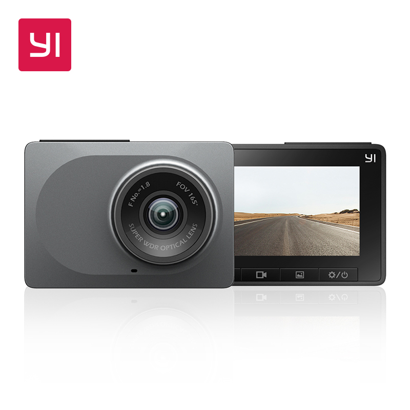 YI Dash Camera Full HD 1080P 2.7 Screen 60fps 165 degree Wide-Angle Car DVR Vehicle Dash Cam with G-Sensor Night Vision ADAS xingtianxia hd 186 1 5 ltps 5 0mp car vehicle dvr camcorder w 4 ir led g sensor black