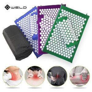 Image 1 - Акупрессурный коврик Shakti ABS, Массажная подушка для улучшения сна, Массажная подушка для головы и ног, коврик для снятия стресса, игла для снятия стресса, коврик для йоги
