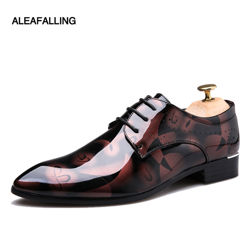 Aleafalling Patent Leather Oxford Shoes For Men Dress Shoes Men Formal Shoes Pointed Toe Business Wedding Plus Size 49 50 MDS00 ccharmix business men shoes genuine leather mens pointed toe dress shoes for men wedding shoes plus size 38 47 formal footwear