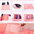 6pcs/set Travel Organizer Storage Bag Travel Cubes Travel Luggage Bag Set Clothes Pouch Portable Case Luggage Suitcase 7 Colors