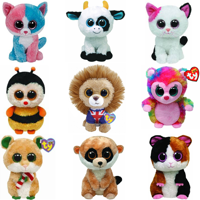 a88d5845c92 Ty Beanie Boos Plush Animal Doll Toy Owl Bat Sea Horse Foxy Dog Rabbit  Giraffe Dolphin For Children s Christmas Gifts