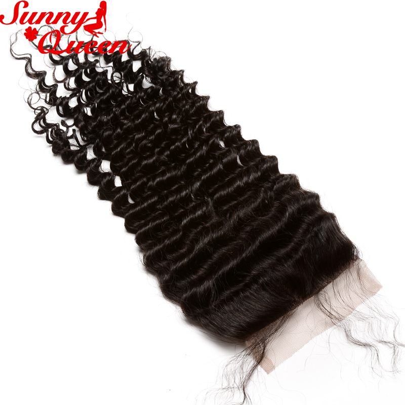 ФОТО Mongolian Kinky Curly Closure 8A Virgin Hair Lace Closure 4x4 Human Hair Closure With Bleached Knots Free Middle 3 Part Closures