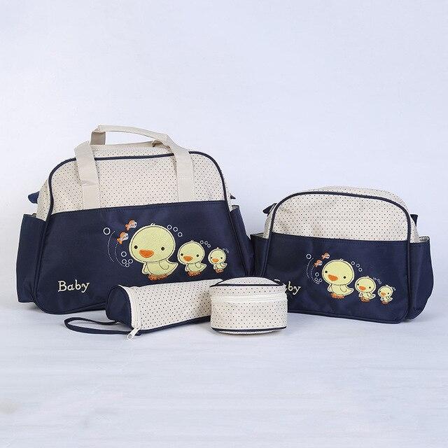 4pcs Maternity Mummy Diaper Nappy Bag Set For Pregnancy Women Travel Shoulder Bag Waterproof Baby Stroller Bag Nursing Handbag