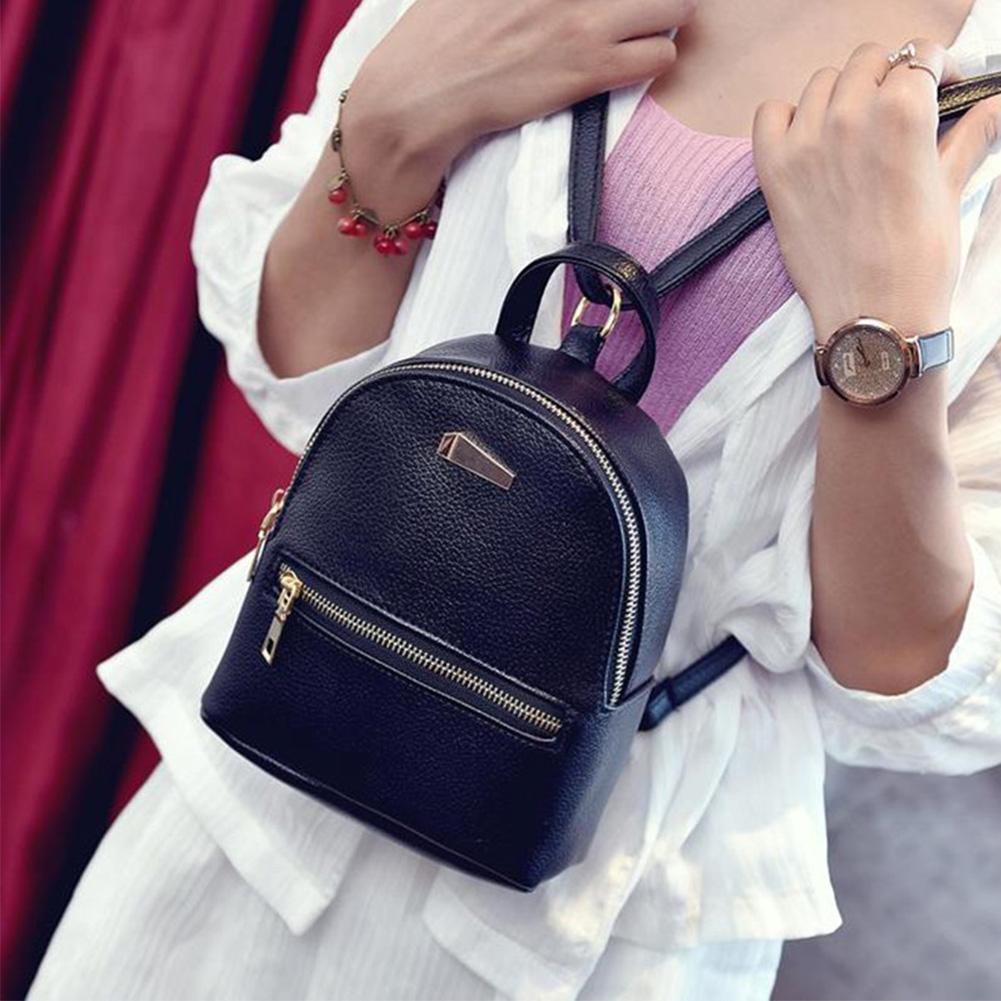 HTB1APPuXvWG3KVjSZPcq6zkbXXa6 Hot Fashion Women Girls Mini Backpack Leather Shoulder School Rucksack Ladies Holiday Travel Bag 2019 New