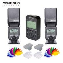 YONGNUO yn685c yn685n yn685 yn-685 Беспроводной HSS TTL Вспышка Speedlite для Canon цифровых зеркальных фотокамер Nikon + yn622c-tx + фильтр + Диффузор