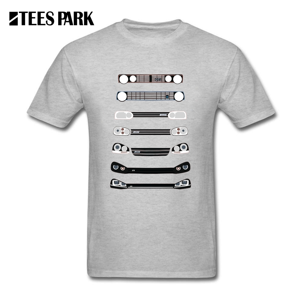 Design t shirt collar - Men S T Shirts Funny Design Vw Golfing Lights Car Youth Crew Neck Tops Round Collar Tees