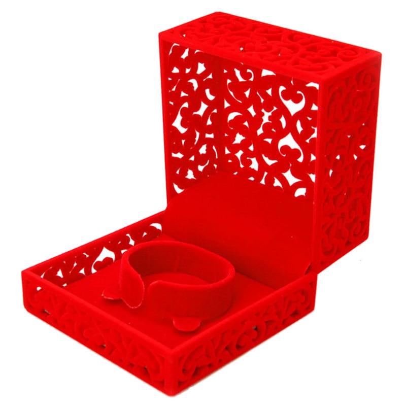 Hollow Engagement Wedding Jewelry Box Holder Display Gift Bracelet Box